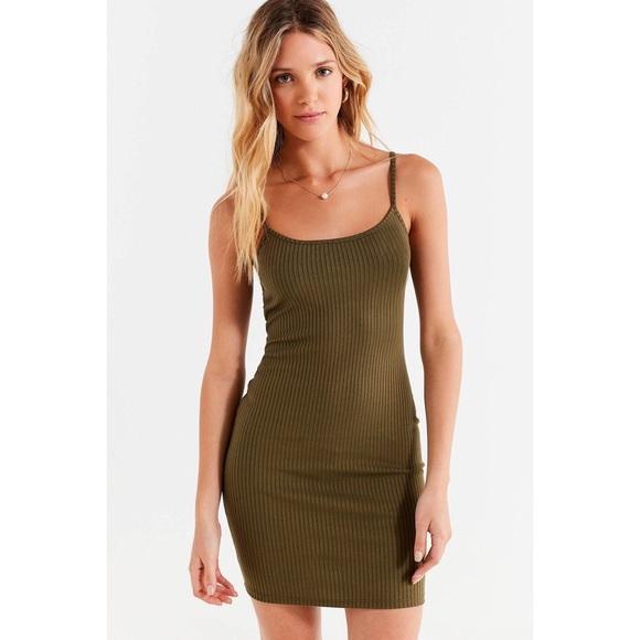 7eb55ca8ffb7b Urban Outfitters Dresses | Uo Mia Ribbed Knit Bodycon Mini Dress ...